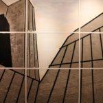 """""""London Duff 1"""" 2015, cemento plastica e pittura al quarzo su celotex, cm. 180x270"""