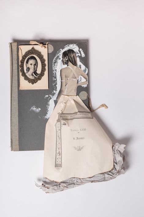 """Andrea"" 2018, assemblage materiali vari, cm. 80x65"