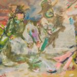 """Cavalcade"" 1947, olio su cartone telato, cm. 30x40"
