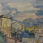 """""""Ponza"""" (1960), tempera su carta, cm. 35x50"""
