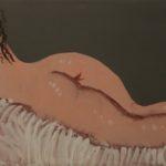 """""""Nudina"""" 1990, olio su tela, cm. 30x60"""