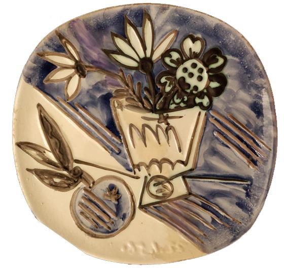 """""""Bouquet a la pomme"""" 1956, ceramica invetriata, diam. cm. 25"""