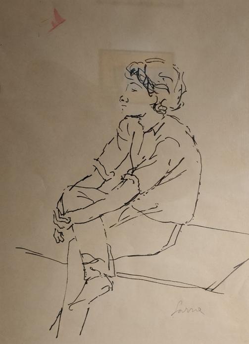 """""""Figura"""" (1980), pennarello su carta, cm. 40x30"""