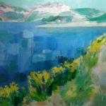 """""""Paesaggio marino"""" (1980), olio su tela, cm. 50x60"""