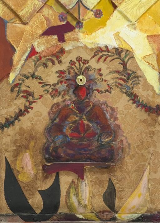 """""""Rosso colmo"""" 2006, pittoscultura, cm. 54x39"""