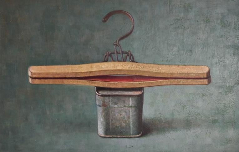 """""""Natura morta"""" 1990, olio su tela, cm. 29x45"""