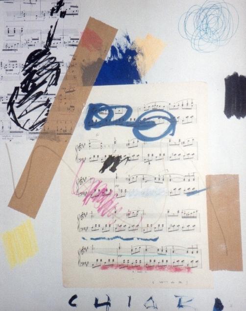 """""""Senza titolo"""" 2001, tecnica mista su cartone telato, cm. 50x40"""