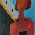 """""""La crociera"""" 1999, olio su tela, cm. 50x35"""