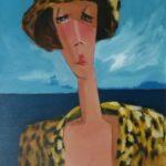 """""""Giallo e nero"""" 1999, olio su tela, cm. 50x35"""