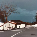 """""""Strada di Calabria"""" (1970), olio su tela, cm. 50x60"""