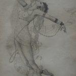 """""""Louise"""" (1950), matita su carta, cm. 31,8x24"""