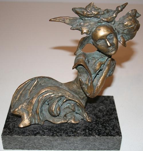 """""""Senza titolo"""" 2010, bronzo es. unico, cm. 20x10x25"""