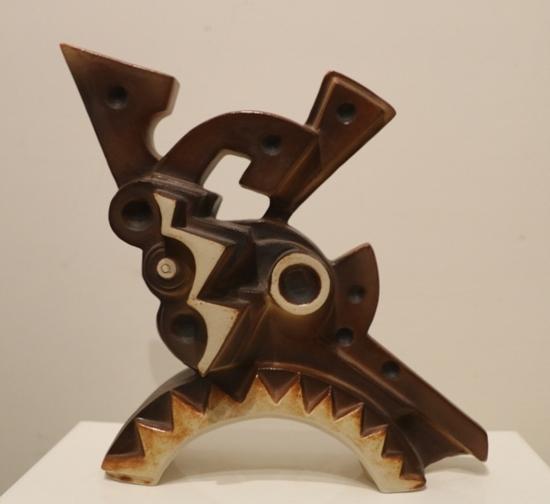 """""""Senza titolo"""" (1990), multiplo in ceramica, h. cm. 25 es. n. 84/100"""