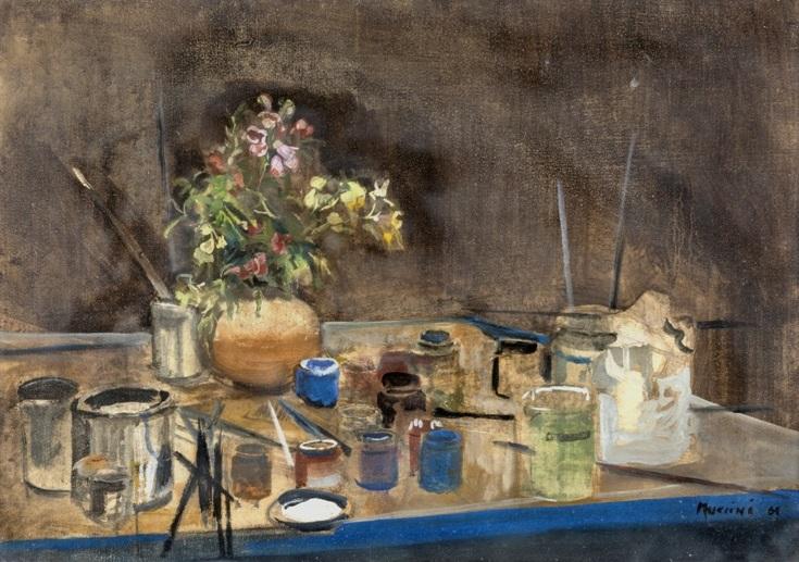 """""""Natura Morta"""" 1964, olio su tela, cm. 50x70"""