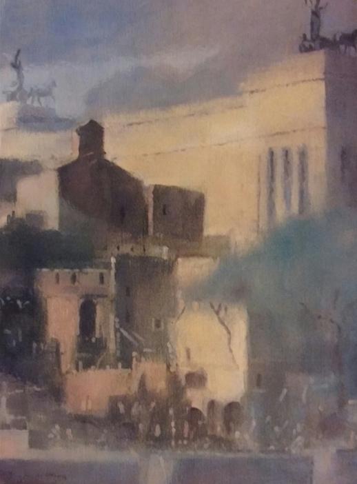 """""""Il Vittoriano"""" (2000), olio su tela, cm. 40x30"""