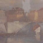 """""""Ponte Cavour"""" (2000), olio su tela, cm. 40x50"""