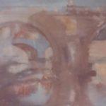 """Ponte Sant'Angelo"" (2000), olio su tela, cm. 50x40"