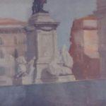"""""""Monumento a Cavour"""" (2000), olio su tela, cm. 60x40"""