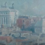 """Paesaggio con Vittoriano"" (2000), olio su tela, cm. 30x40"