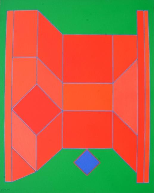 """""""Il malore della gioia"""" 2007, tecnica mista su tela, cm. 81x65"""