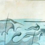 """""""Marina"""" 1945, olio su tavola, cm. 77x149"""