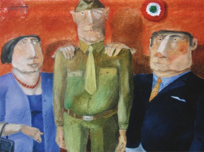 """""""Il giuramento"""" (2010), olio su tela, cm. 30x40"""