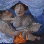 """""""Conversazione"""" (2010), olio su tela, cm. 30x40"""