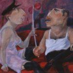 """""""L'indagine"""" (2010), olio su tela, cm. 35x45"""