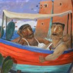 """I fratelli Nania"" (2000), olio su tela, cm. 40x50"