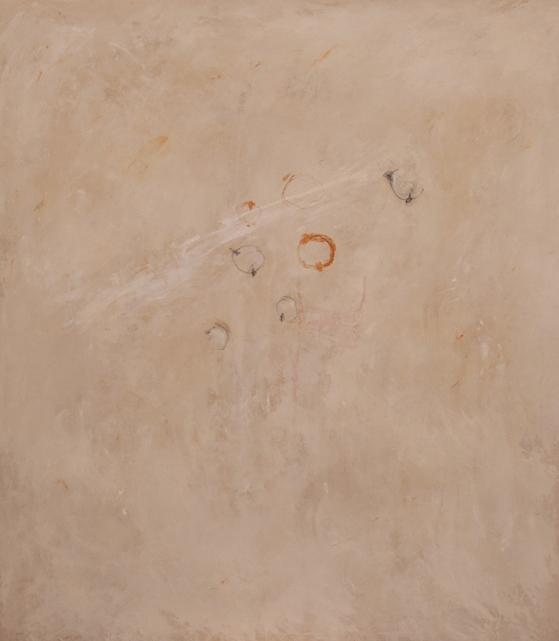 """""""Pianeti"""" 2014, olio su tela, cm. 135x120"""