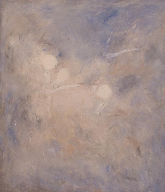 """""""Lampare"""" 2002, olio su tela, cm. 140x120"""