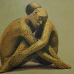"""""""Ri-flesso"""" 2001, olio su tela, cm. 70x105"""