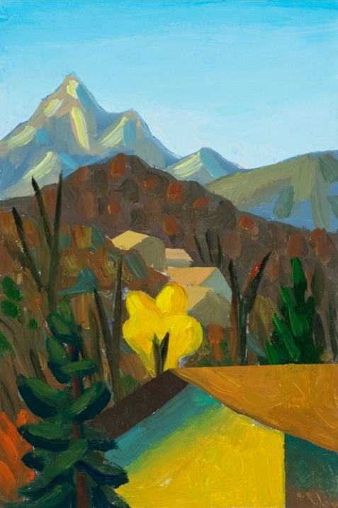 """""""Paesaggio"""" (2000), olio su tela, cm. 30x20"""