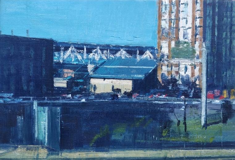 """New York"" 2010, olio su tela, cm. 34x50"