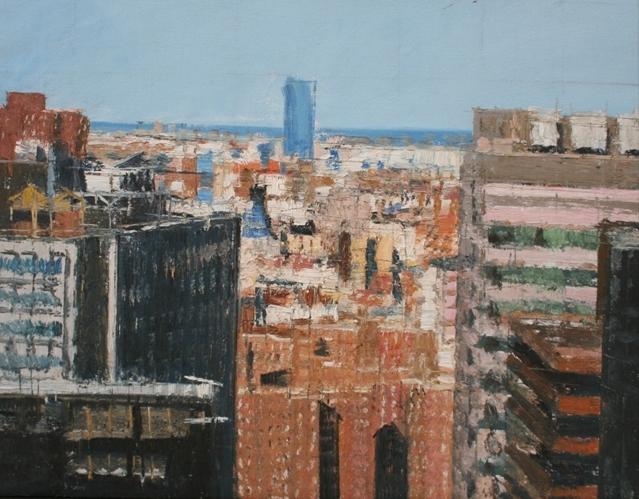 """""""Senza titolo"""" 2009, olio su tela, cm. 42x54"""