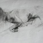 """""""La cagna"""" 1996 matite colorate, cm. 63x99"""