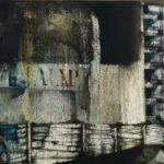 """""""Periferia"""" 1964, olio su carta intelata, cm. 69x104"""