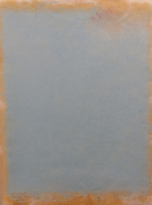 """Ceruleo"" 2015, olio su carta giapponese, cm. 47x37"