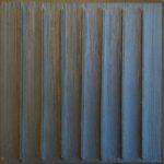 """""""Quadrato blu"""" 2003, tecnica mista, cm. 50x50"""
