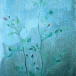 """""""Fiori"""" (1950), olio su tavola, cm. 70x40"""