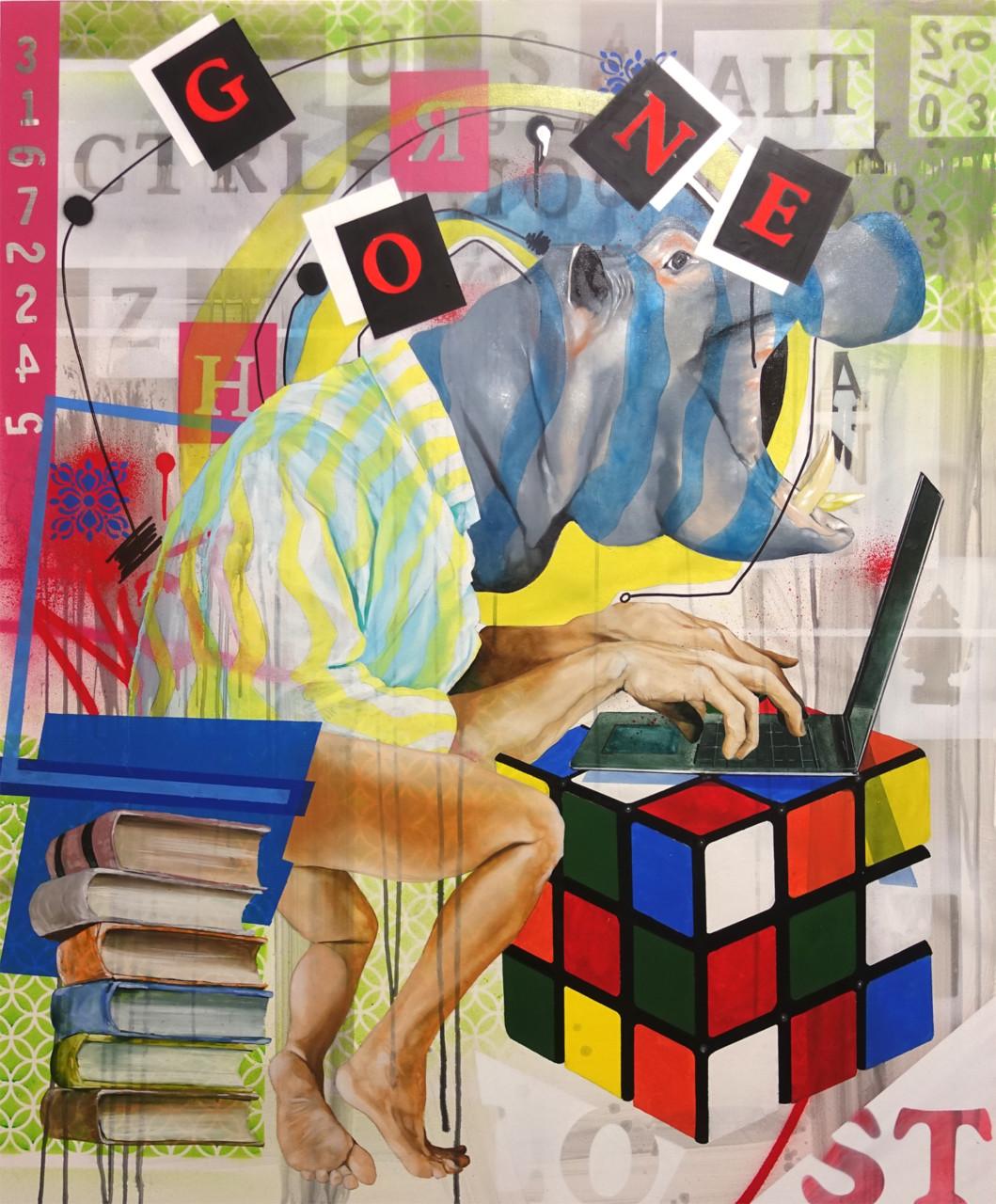 I Lost Myself, olio su tela, cm. 100x120